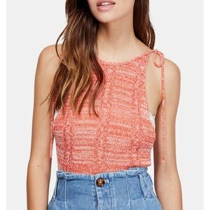 NWT Free People Bombshell Open Knit Tank Top Small